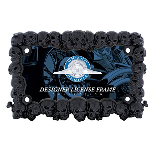 license plate frame black skull - 6