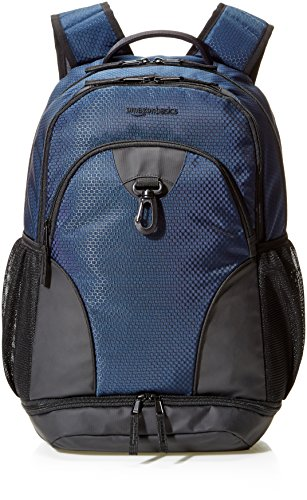 AmazonBasics Sport Laptop Backpack - Navy Blue