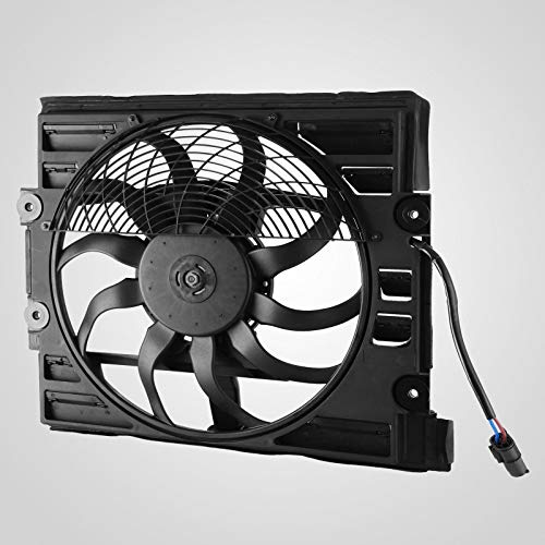 Mophorn Pro Auxiliary Radiator Cooling Fan Motor Assembly for BMW E38 740 750 Each