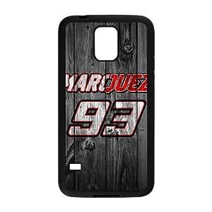 Caja del teléfono celular Funda Negro E2R5QI caja del teléfono celular Funda para requisitos particulares único Galaxy S5 Márquez 93 C8Y3Tw Funda Samsung