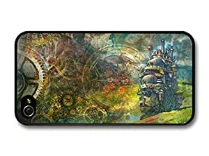 AMAF ? Accessories Howl's Moving Castle with Gears Pattern Fantasy Illustration case for iPhone 4 4S Kimberly Kurzendoerfer