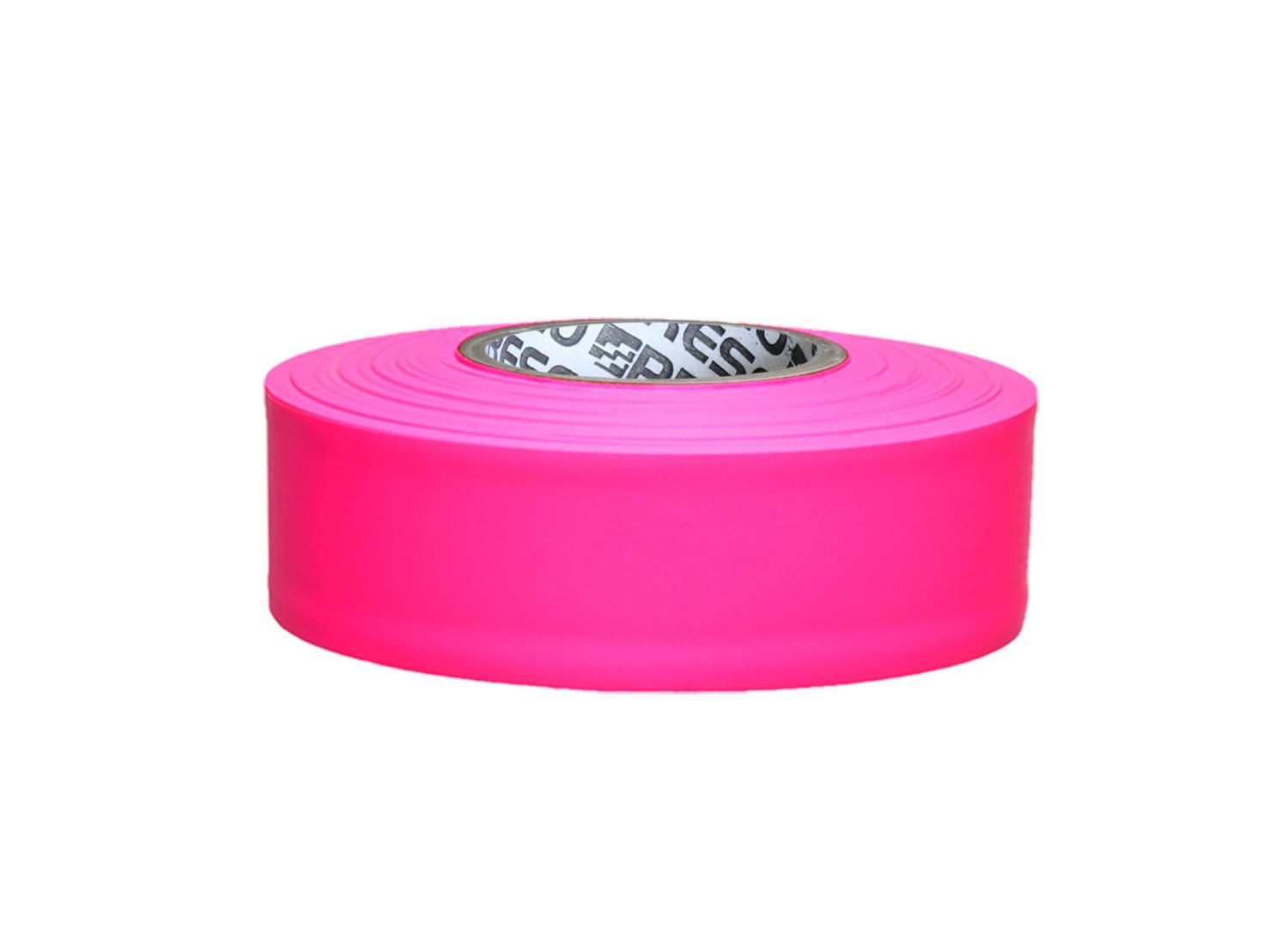 Presco ARPG 1-3/16'' x 150' Arctic Pink Glo PVC Flagging Tape, 3.75'' Height, 1.18'' Wide, 3.75'' Length by Presco