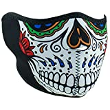 ZANheadgear Unisex-Adult Neoprene Muerte Skull Half Mask (Multi, One Size)