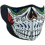 Zanheadgear WNFM413H Neoprene Half Face Mask, Muerte Skull
