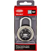 Lockwood 140/50/122/NDP 140 Series 140 Series 50 mm Combination Dial Padlock Display Pack, Silver/Red