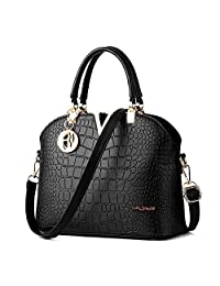 XYH PU Leather Womens Shoulder Bags Top-Handle Handbag Tote Purse Bag