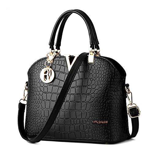Women Ladies PU Leather Top Handle Bag - 4