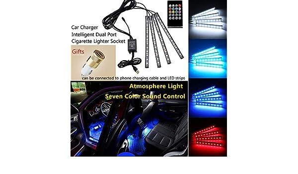 Incluye Cargador de Coche Starwings Tira de Luces LED para Coche con funci/ón de Sonido y Mando a Distancia inal/ámbrico
