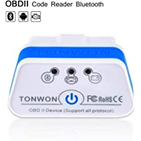 OBD2 Scanner, TONWON Scan Bluetooth Adapter Auto Diagnostic Tool Car Fault Code Reader for Android