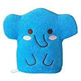 Blue Elephant Baby Bath Glove Hand Puppet Mitt Bath Toys Wash Cloths Scrubber
