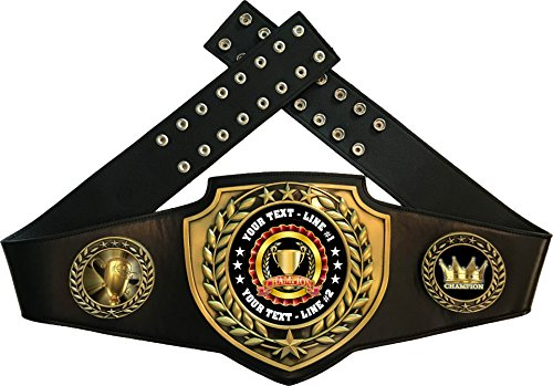 Express Medals Champion Trophy Award Belt Customizable -