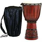 X8 Celtic Labyrinth Djembe Drum with Bag, Croaking Frog and Shakers