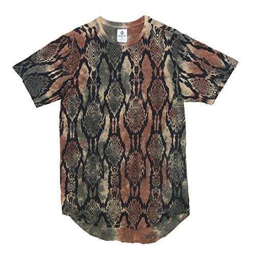 Akademiks Mens Snake Long Length T-Shirt