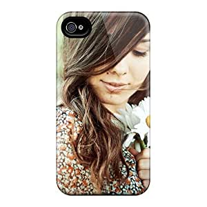 Quality MeSusges Case Cover With Girl Brunette Chamomile Romance Shirt Nice Appearance Compatible With Iphone 4/4s