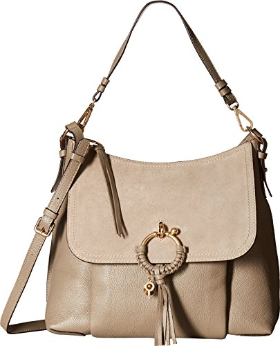 See by Chloe Women's Joan Medium Shoulder Bag, Motty Grey, One Size by See by Chloé