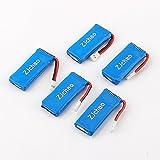 ZJchao 5x3.7V 500mAh Battery For Hubsan X4 H107 H107L H107C H107D V252 JXD385