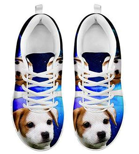 Brand Sneakers 5 Dog Russell Jack Men's Print Cute Casual 7 Terrier BUpqB1r
