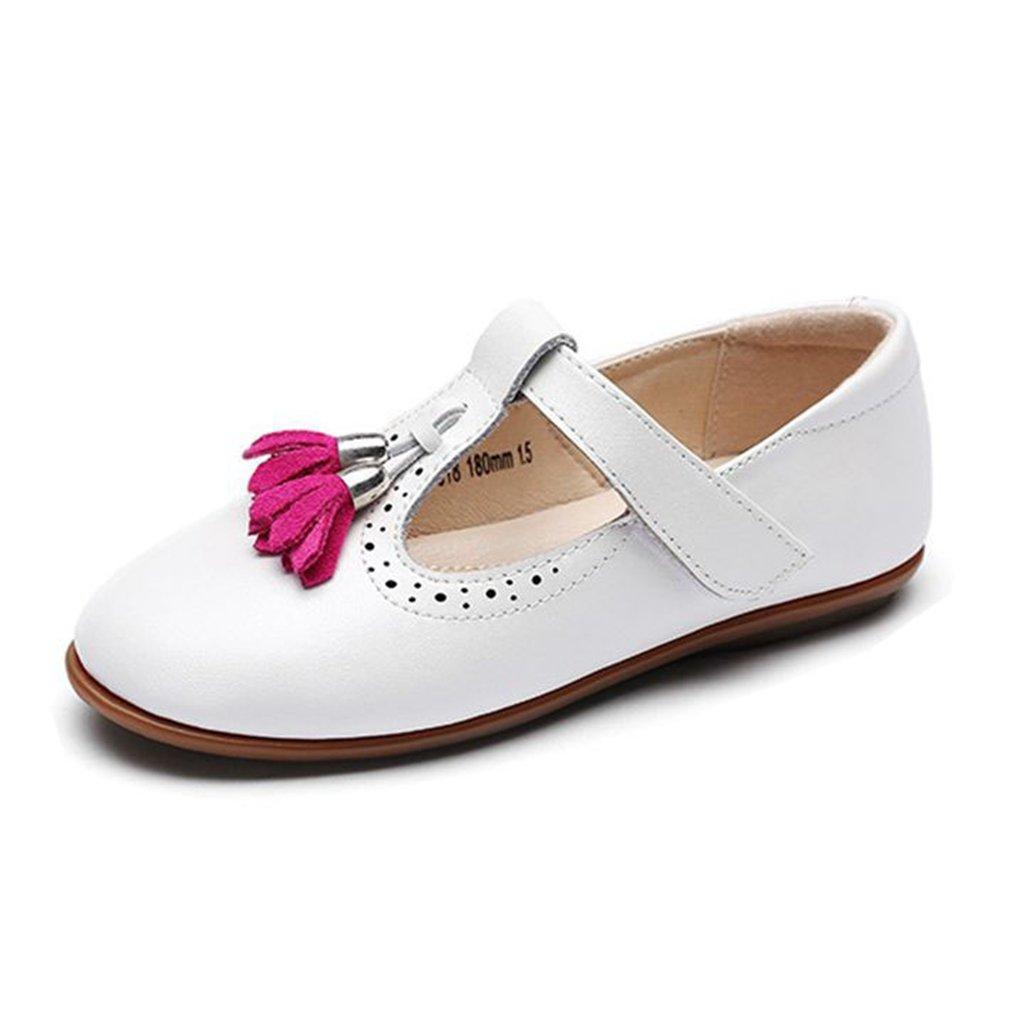 GIY Toddler Girl's Mary Jane Shoe Slip-On Soft Leather Flower Dress Ballet Princess Shoes