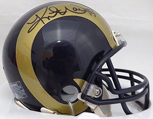 Kurt Warner Autographed St. Louis Rams Gold & Blue Mini Helmet