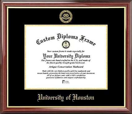 Amazon.com : University of Houston Cougars - Embossed Seal ...