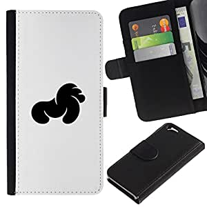 All Phone Most Case / Oferta Especial Cáscara Funda de cuero Monedero Cubierta de proteccion Caso / Wallet Case for Apple Iphone 6 // Negro Especial
