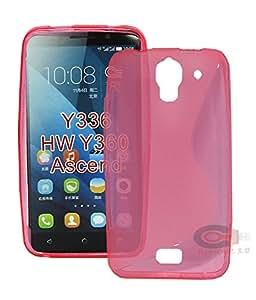TUMOVIL_3.0® Carcasa flixigel Funda s-line antigolpe tpu silicona gel para Huawei Ascend Y360 Y336 Fucsia