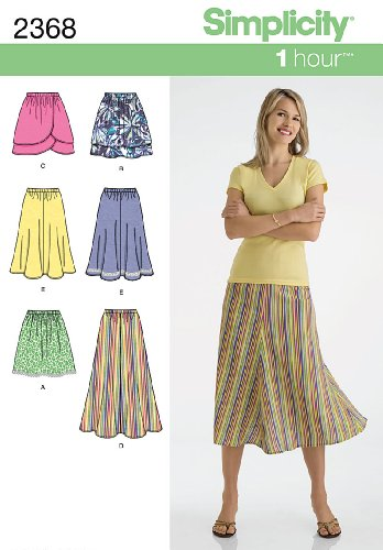 - Simplicity Sewing Pattern 2368 Misses' Skirts, H5 (6-8-10-12-14)