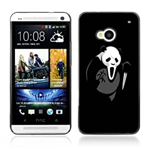 YOYOSHOP [Funny Scream Killer Panda Bear] HTC One M7 Case