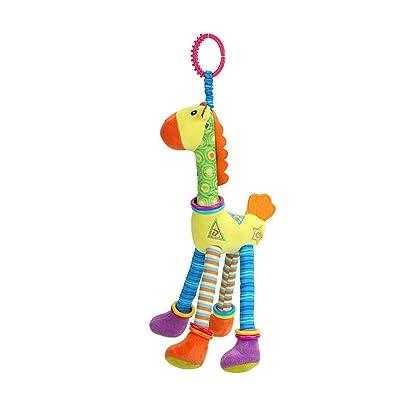 Tuscom Baby Crib Stroller Carseat Decoration, Kid Baby Spiral Bed Stroller Animal Modeling Stroller Rail Toy Giraffe Educational Plush Toy: Home & Kitchen [5Bkhe0201625]
