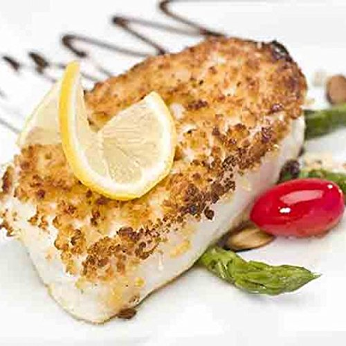Halibut Fillets from Alaska 5 Lb Box - Vacuum Packed & Frozen Fresh - Discounted Overnight Shipping Monday-Thursday