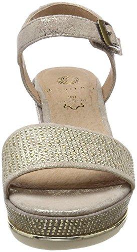 WoMen Natural Sandals Gold Sling Be Lt Pepper Gold 28341 Back wv7Xxq