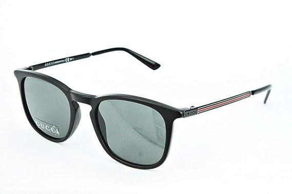 28187416d0b Gucci sunglasses GG 1130  S GTNBA Acetate plastic Matt Black Black   Amazon.co.uk  Clothing