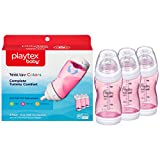 Health & Personal Care : Playtex Baby Ventaire Anti Colic Baby Bottle, BPA Free, Pink, 9 Ounce - 3 Pack