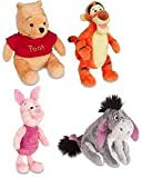 pooh bears - Disney Store Original Winnie the Pooh Plush Set of 4 with Piglet, Tigger, Winnie and Eeyore