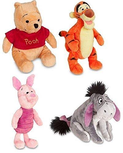 Disney Store Original Winnie the Pooh Plush Set of 4 with Piglet, Tigger, Winnie and Eeyore by Disney Store