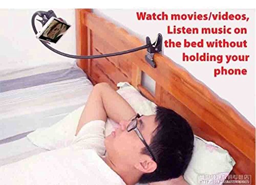 VOLTAC Universal Rotating Lazy Bracket Flexible Mount Holder with Dual Clip for Mobile Phone Model 409991