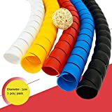 Cable Sleeve, Dog and Cat Cable Protector Sleeve Organizer, Protects Your Pets and Critters from Chewing Electric Wire by FUNZON 5 PCS/Pack 2mx0.01m 3C012