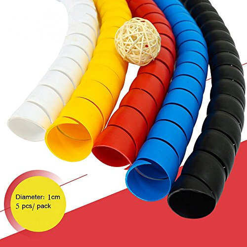 Cable Sleeve, Dog and Cat Cable Protector Sleeve Organizer, Protects Your Pets and Critters from Chewing Electric Wire by FUNZON 5 PCS/Pack 2mx0.01m 3C012 ()