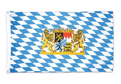 Faerynicethings Octoberfest Bavarian Lion Flag 3' x 5' - Celebration - Decoration