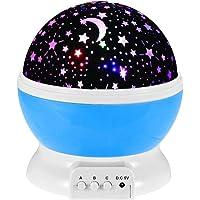بروجكتور عرض بمصباح ليد دوار USB ستار ماستر - مصباح ليلي بتصميم سماء مليئة بالنجوم لغرف نوم الأطفال والبيبي- متعدد…