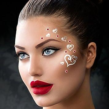 Etapa desgaste danza ojo cara cristal metálico tatuajes temporales ...