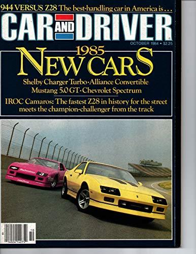 Car and Driver Magazine, October 1984 (Vol 30, No. 4)