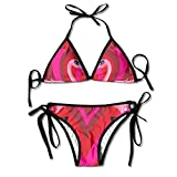 FDJKHY Personalized Women Bikini-A Couple Of Flamingos Swimsuit Beachwear