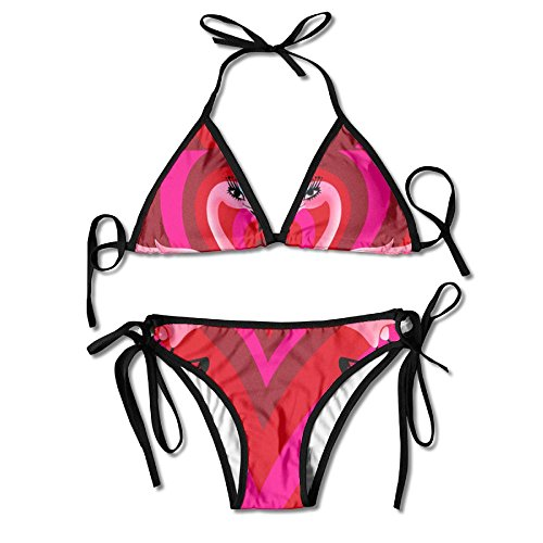 FDJKHY Personalized Women Bikini-A Couple Of Flamingos Swimsuit Beachwear by FDJKHY