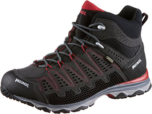 Meindl Shoes X-so 70 Mid Gtx Surround Men - Antracite / Blu Nero / Rosso