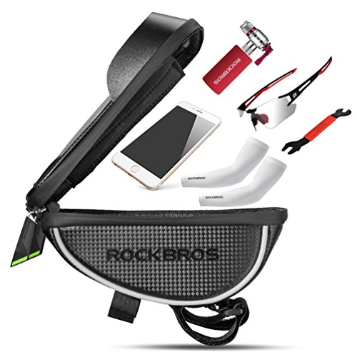 RockBros Bike Phone Bag Waterproof Handlebar Bicycle Phone Case Sensitive Phone Mount Bag Holder For iPhone X 8 7 Plus 6s Below 6.0'' by RockBros (Image #2)