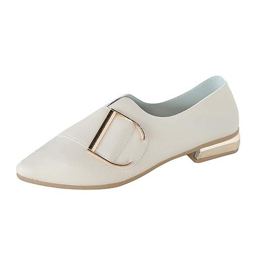 Darringls_Zapatos para Mujer,Zapatillas Puntiagudo Tacon bajo Botines Fondo Plano Sandalias Hebilla Color sólido: Amazon.es: Ropa y accesorios