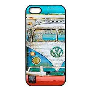 Car Vintage Volkswagen VW Van Bus Cool Unique Apple Iphone 5 5S Durable Hard Plastic Case Cover CustomDIY