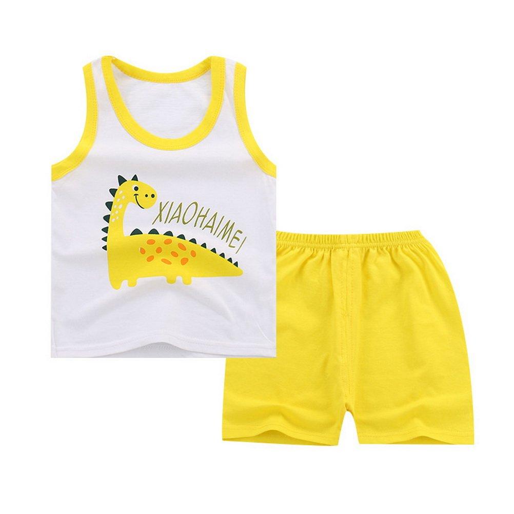 Shorts Sommer Outfits 0,5-5 Jahre alt ARAUS Baby Unisex Kleidungset Unterhemd