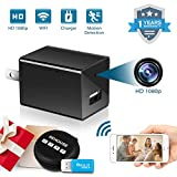 Hidden Spy Camera 1080P HD Motion Detection WiFi Wireless Mini Cam for Home Office Hotel Security as Nanny Cam Video Recorder for iPhone/Android Phone/iPad/PC